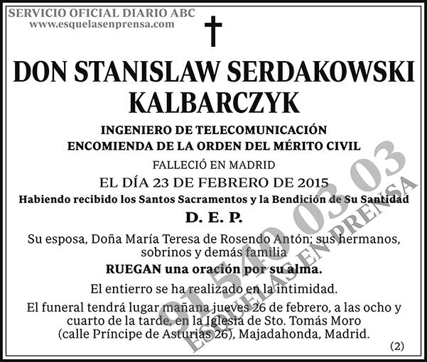 Stanislaw Sendakowski Kalbarczyk